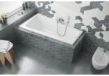 Vana Excellent Ava Side rohová 150x80,5 cm akrylová levá, bílá