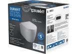 Duravit ME by Starck Souprava WC závěsný Compact Duravit Rimless se sedátkem klozetovým wolnoopadającą,barva bílý