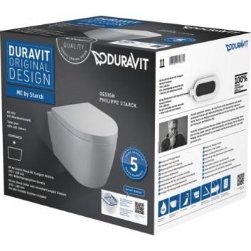 Duravit ME by Starck Souprava WC závěsný Compact Duravit Rimless barva bílý- sanitbuy.pl