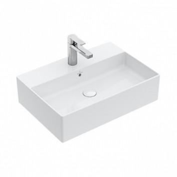 Umyvadlo na postavení na desku Villeroy & Boch Memento 2.0 60x42 cm z přepadem, bílá 4A076001- sanitbuy.pl