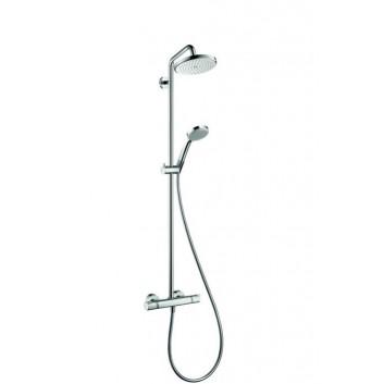 Zestaw prysznicowy Hansgrohe Croma 220 komplet z termostatem i deszczownicą- sanitbuy.pl