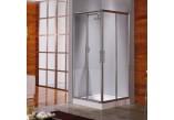Sprchový kout Novellini Lunes A 87-90 cm rohová - 1 část, stříbrný profil, sklo čiré