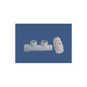 Zestaw Schlosser Duo-Plex kątowy lewy, biały + nypel 2szt. 1/2 x 3/4- sanitbuy.pl