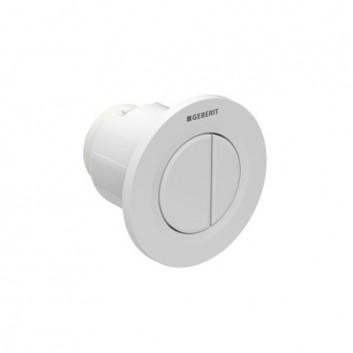 Tlačítko uruchamiający do WC Geberit Sigma 01 pneumatyczny, ręczny, dwudzielny, podomítkový