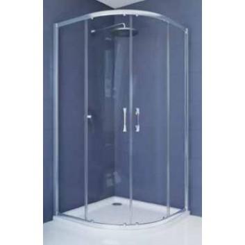 Lítací dveře Hüppe ena 2.0 typ 800, do niky i stěny, stříbrný lesk, čiré Anti-Plaque- sanitbuy.pl