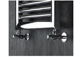 Souprava zaworów Irsap termostatických rohový, łącznik ocelový - chrom