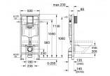 Modul podomítkový Grohe Rapid SL pro závěsné WC 113cm vysoký