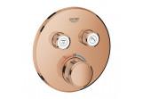 Baterie podomítková Grohe Grohtherm SmartControl termostatická 2-přijimače vody, warm sunset