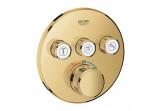 Baterie podomítková Grohe Grohtherm SmartControl, termostatická, 3-přijimače vody, cool sunrise